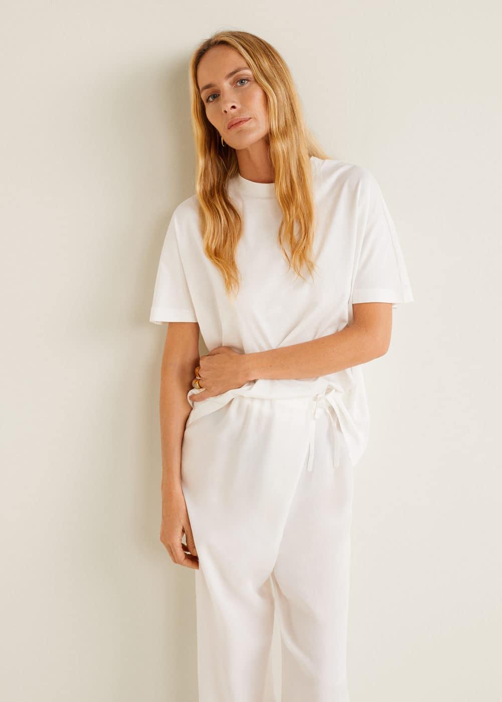 Organic Cotton T Shirt by Mango