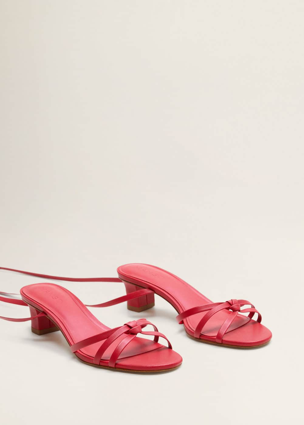 Leather Straps Sandals by Mango