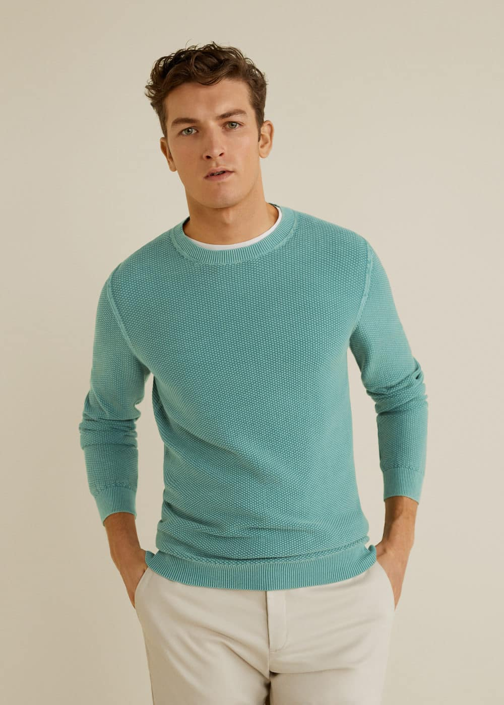 Mango - Structured cotton sweater - 1
