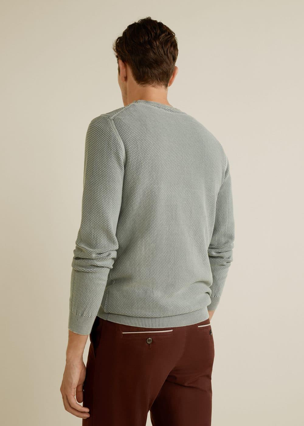 Mango - Structured cotton sweater - 2