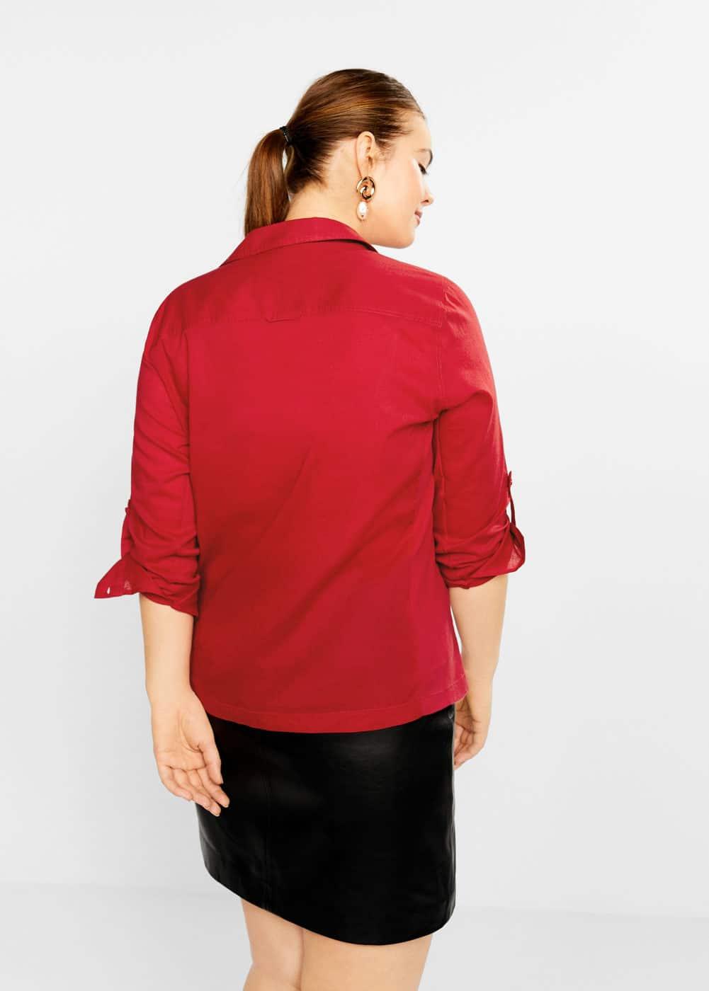 Mango - Baumwollhemd mit Brusttasche - 3