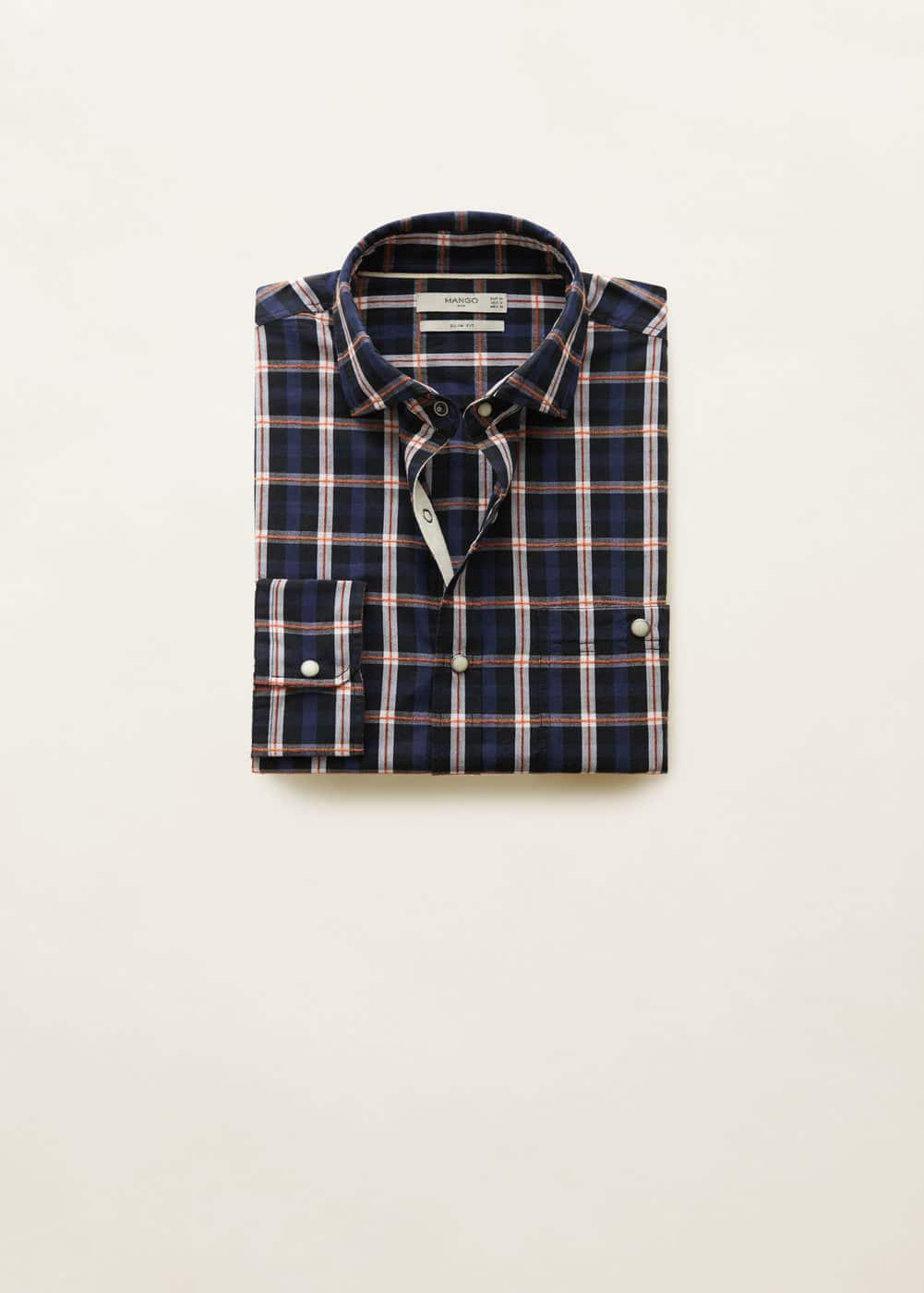 Mango - Camisa slim-fit algodón cuadros - 6