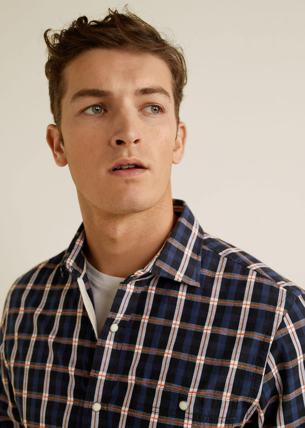 Mango - Camisa slim-fit algodón cuadros - 4