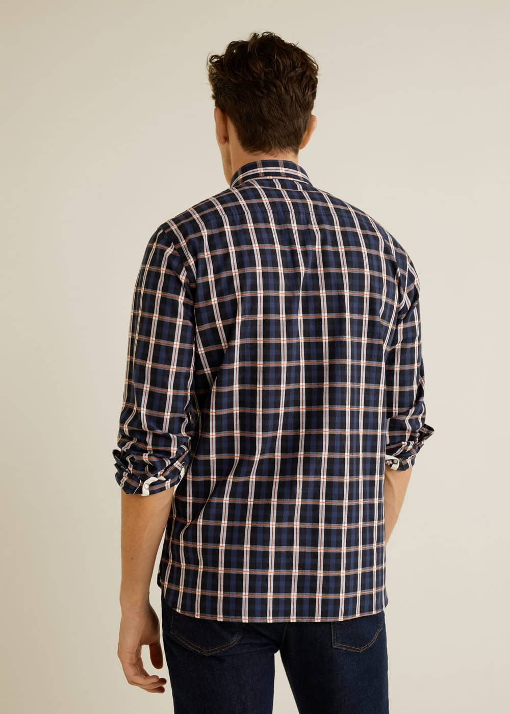 Mango - Camisa slim-fit algodón cuadros - 3
