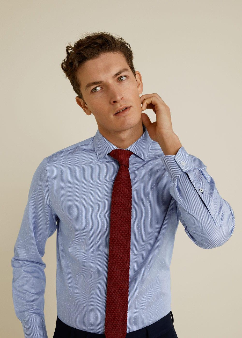 Mango - Camisa Tailored slim fit algodón - 1