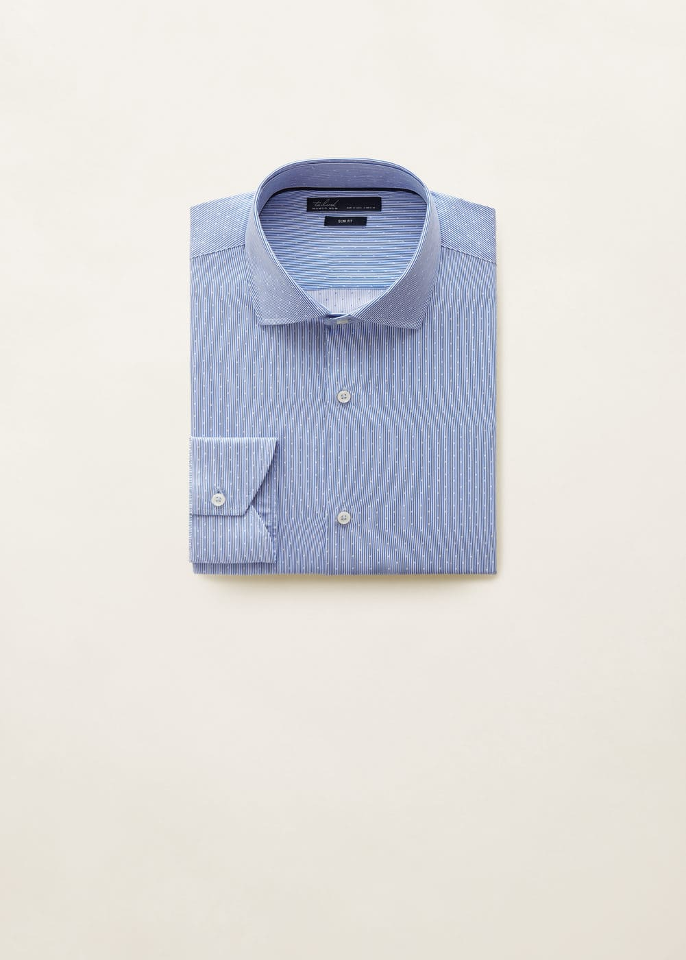 Mango - Camisa Tailored slim fit algodón - 7