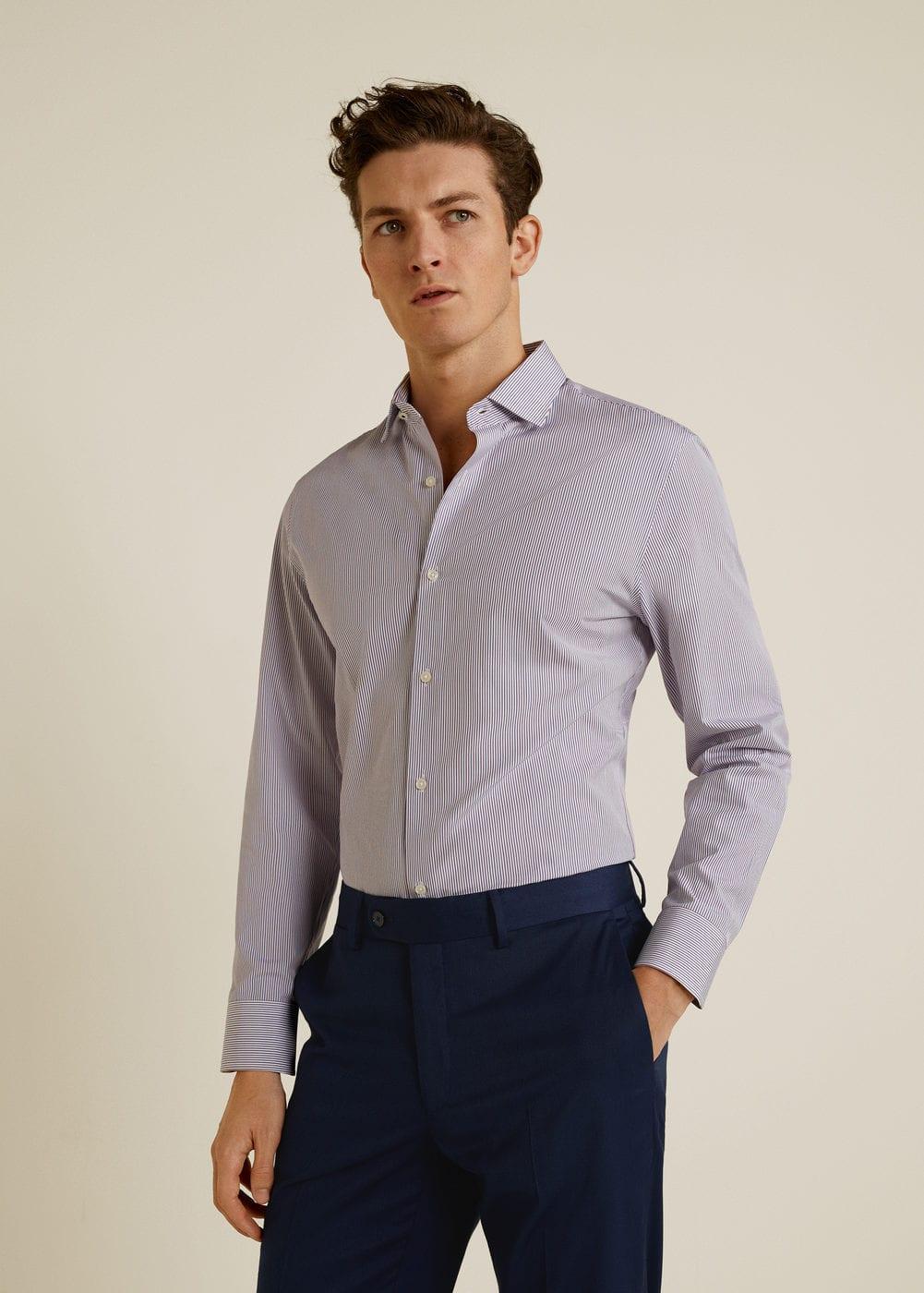 Mango - Camisa Tailored slim-fit mil rayas - 5