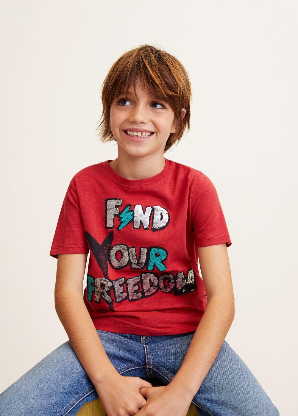 Mango - Camiseta lentejuelas reversibles - 1