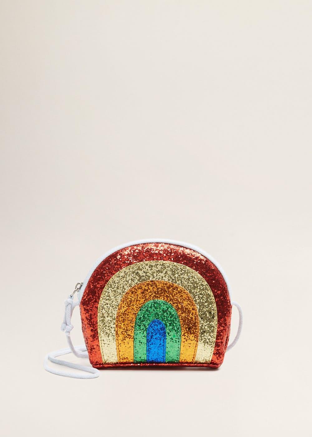 Mango - Bolso arcoiris purpurina - 1