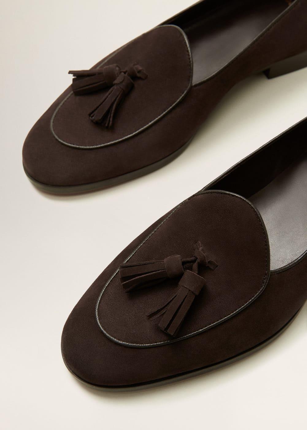 Mango - Tassel suede loafers - 4