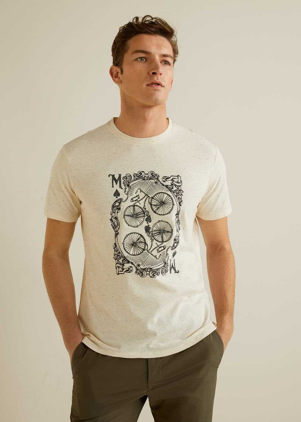 Mango - Camiseta algodón dibujo - 1