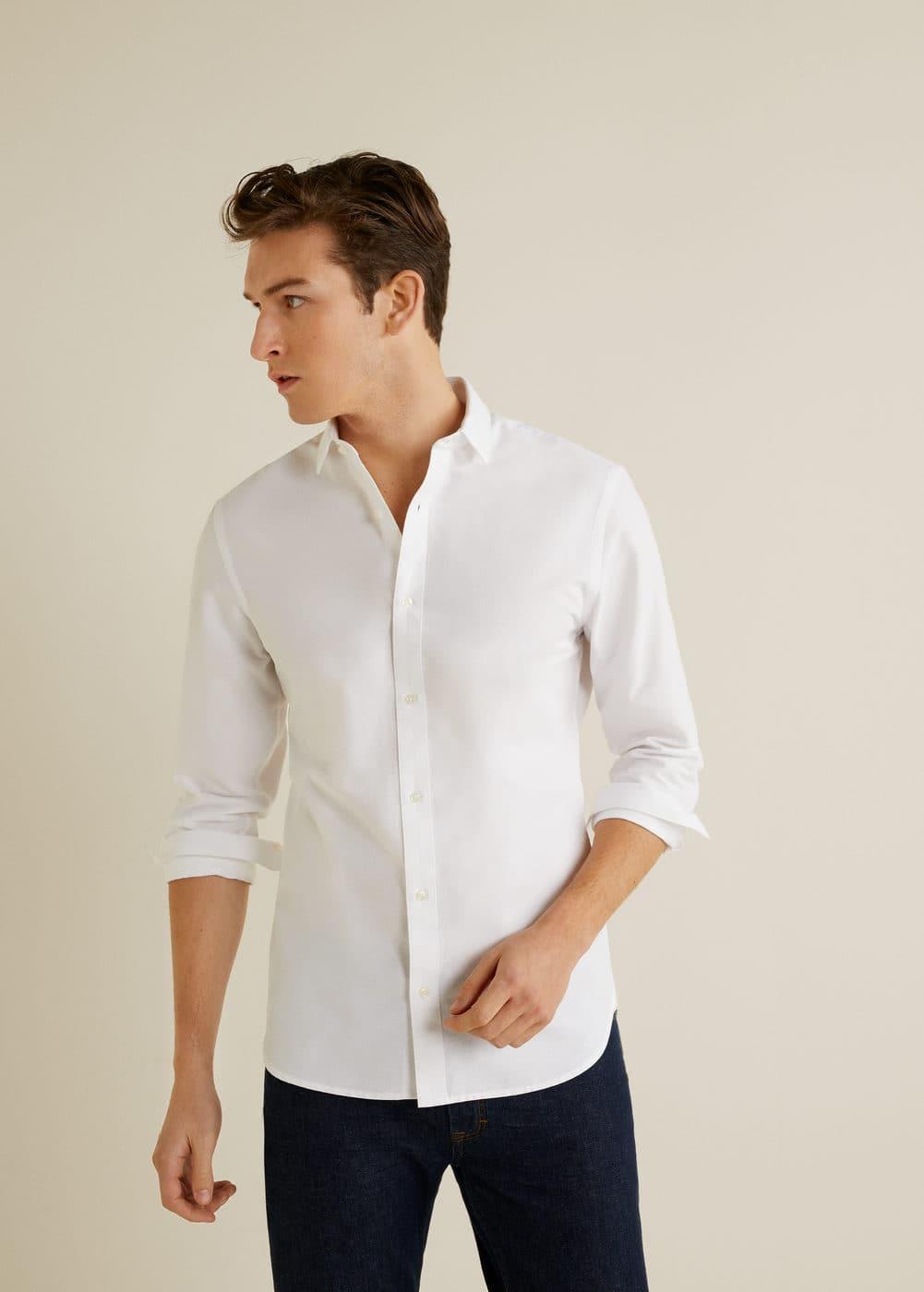 Mango - Camisa slim-fit estructura rayas - 1