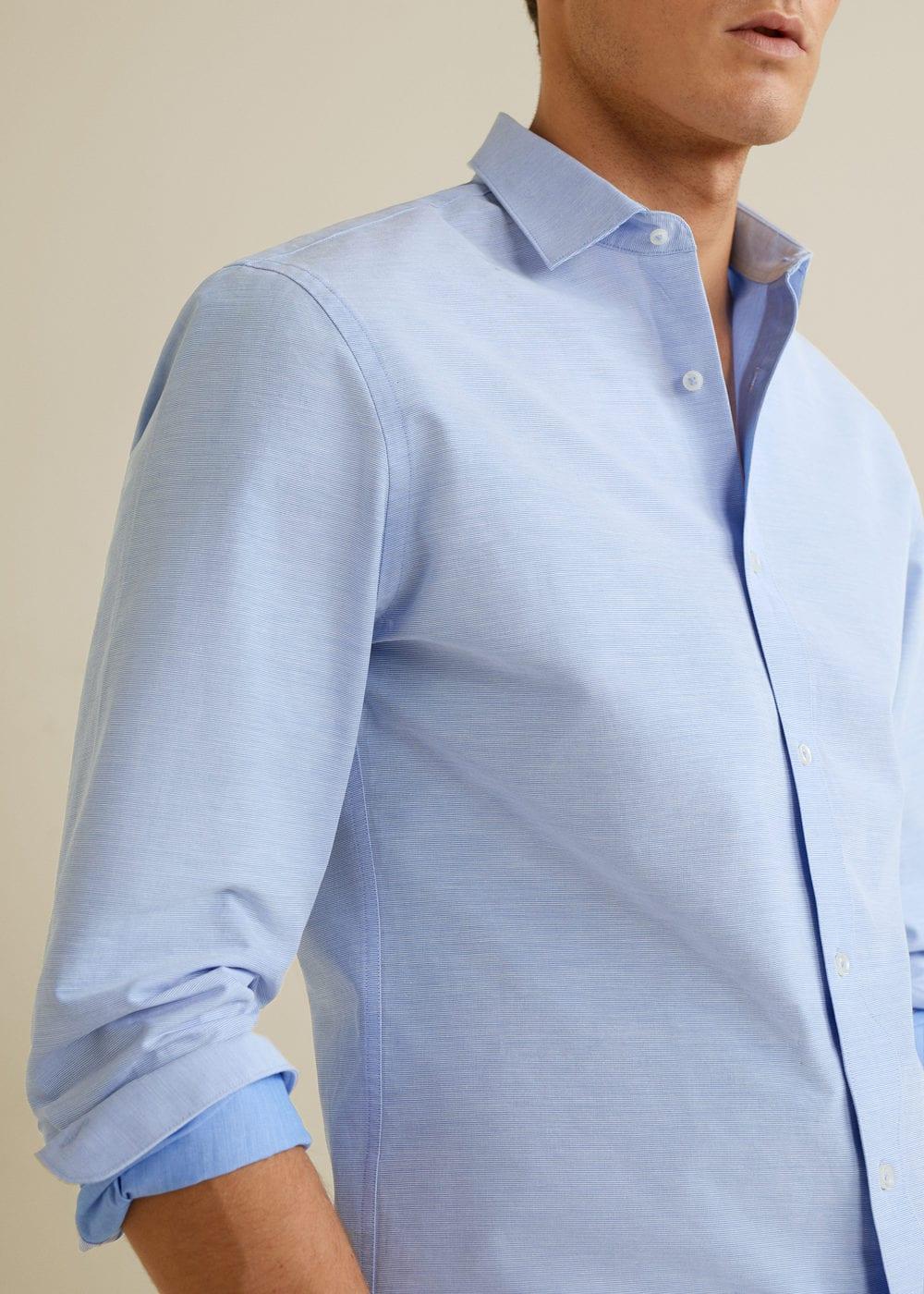 Mango - Camisa slim-fit estructura rayas - 5