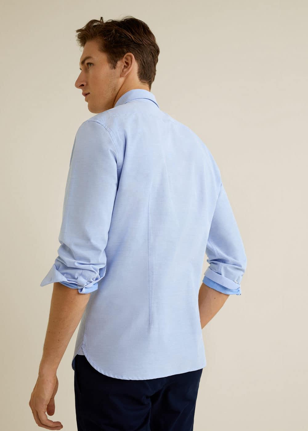 Mango - Camisa slim-fit estructura rayas - 3