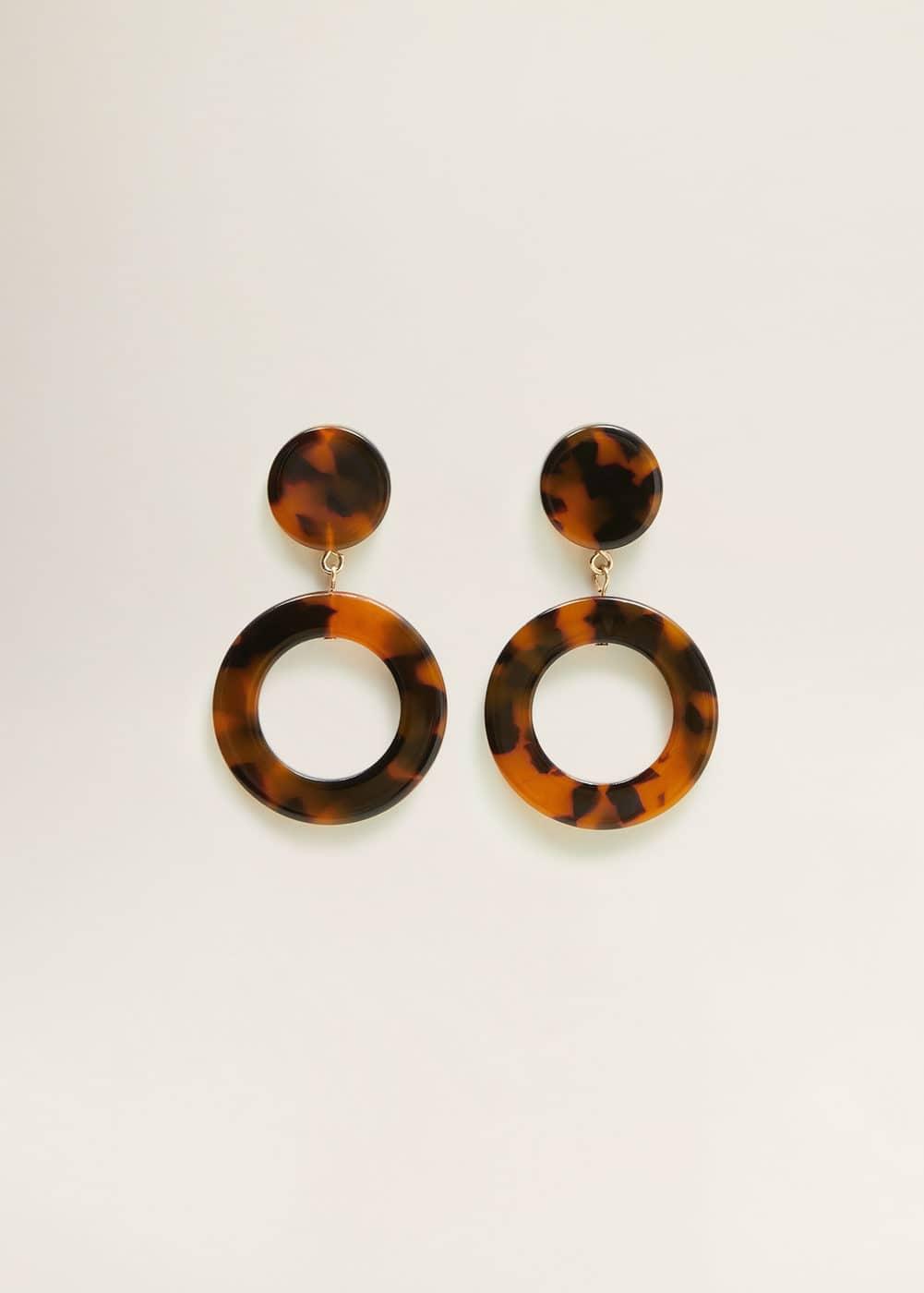 Mango - Tortoiseshell earrings - 1