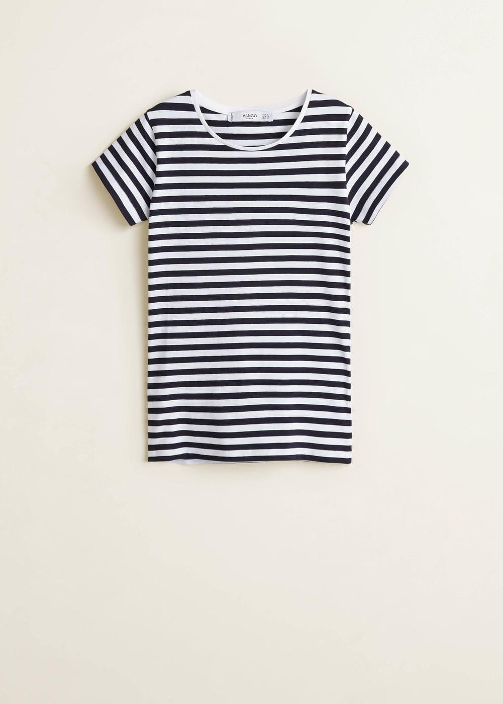 Camiseta MujerMango España Camiseta Básica Básica Algodón MVzSqULGp