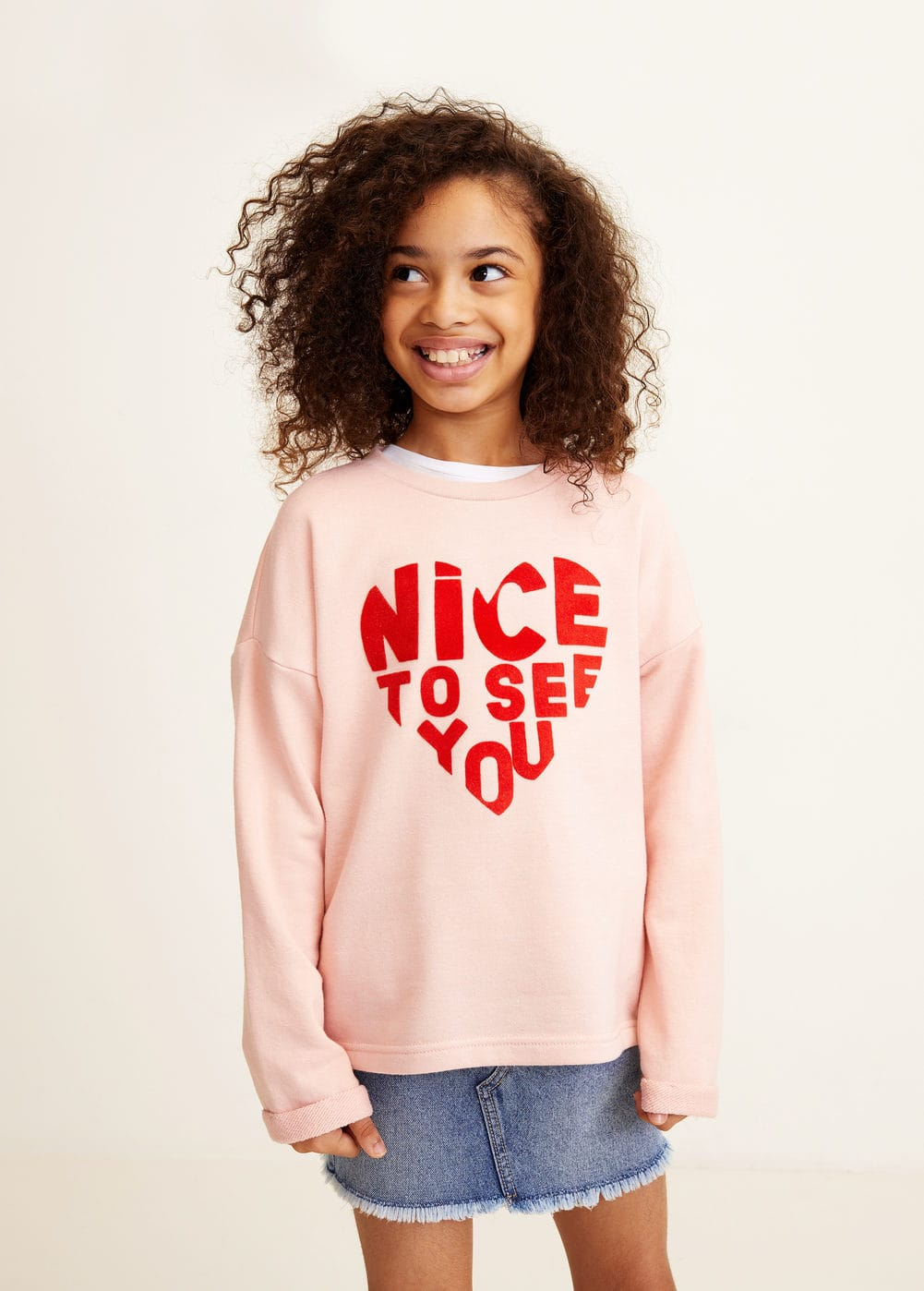 Mango - Cotton-blend printed sweatshirt - 1