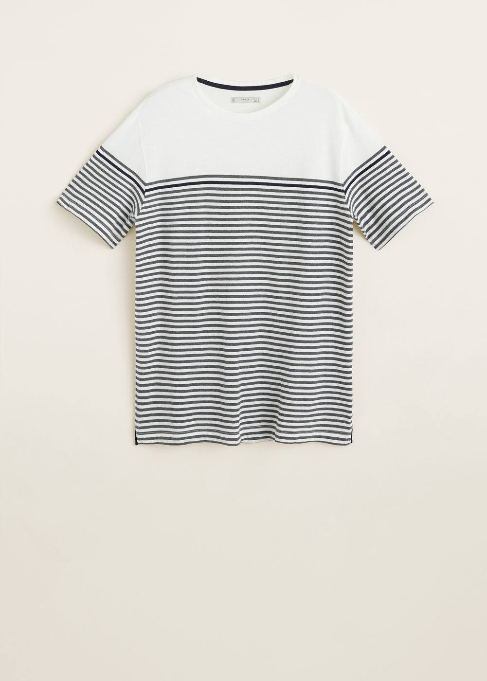 Mango - Striped cotton t-shirt - 5