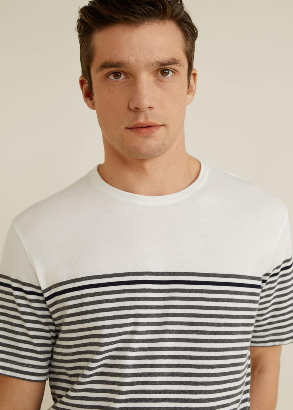 Mango - Striped cotton t-shirt - 4
