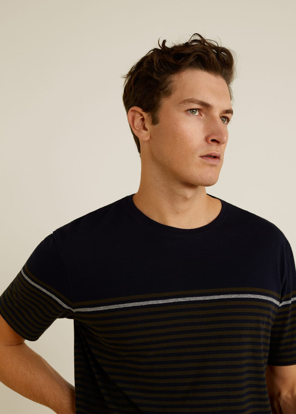 Mango - T-shirt coton à rayures - 4