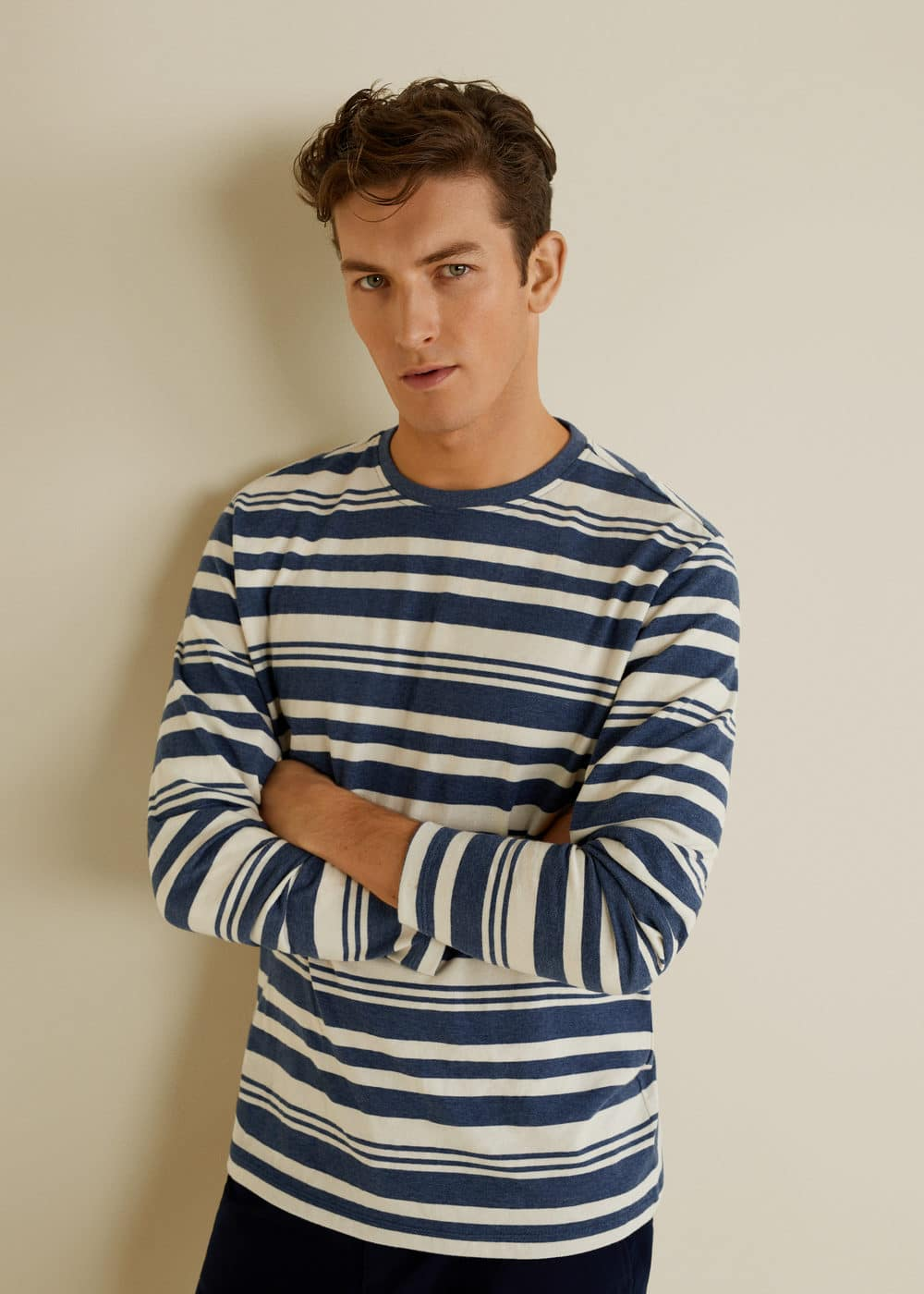 Mango - Striped cotton t-shirt - 1