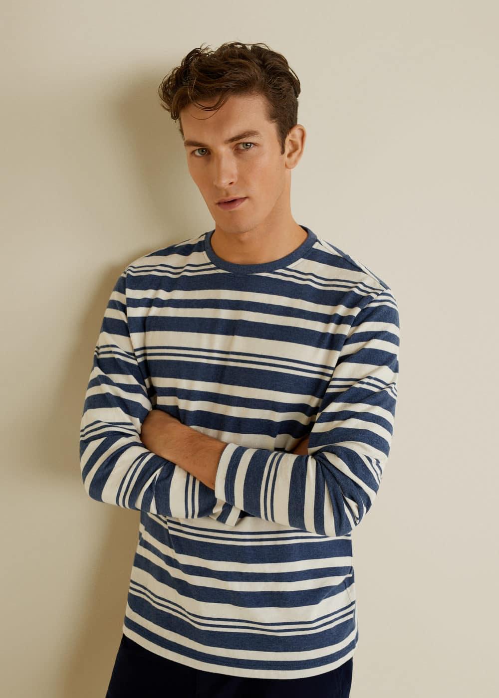 Mango - Camiseta algodón rayas - 1