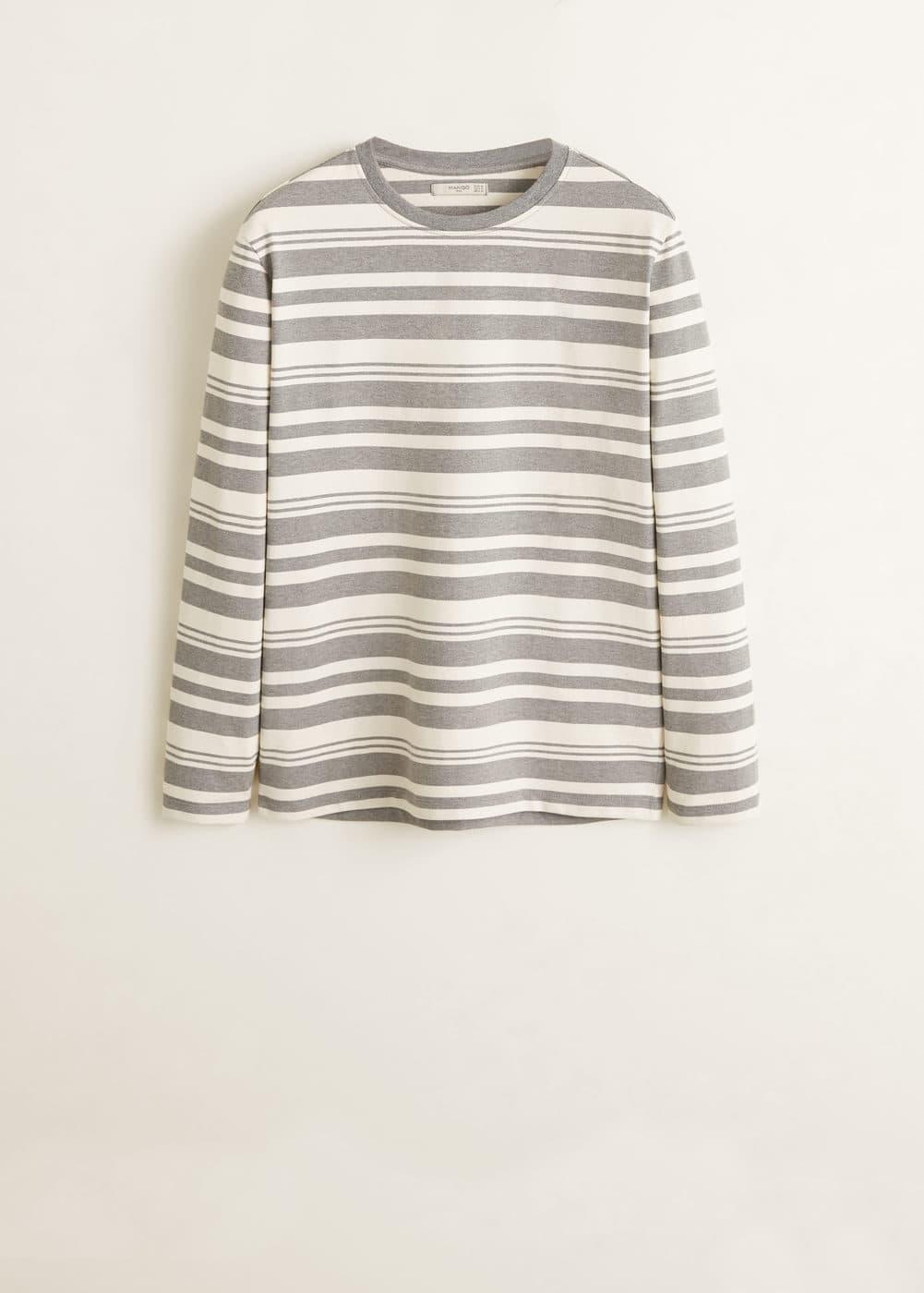Mango - Camiseta algodón rayas - 5