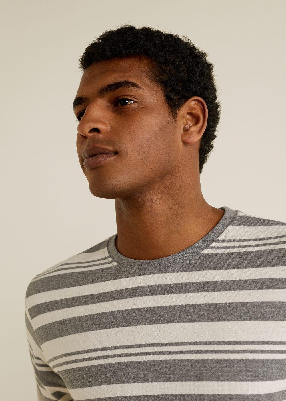 Mango - Camiseta algodón rayas - 4
