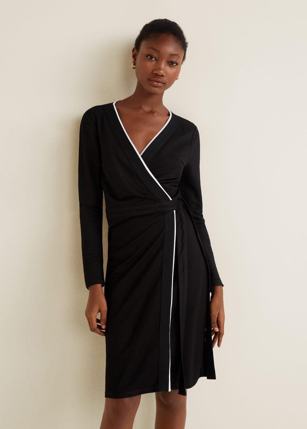 m-cintia:vestido cruzado lazo