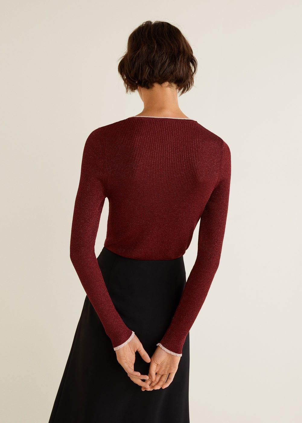 Mango - Contrast-edge sweater - 3