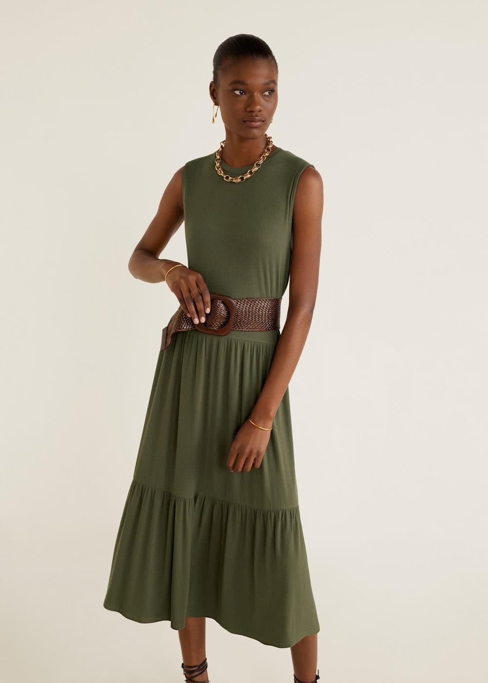 d0a9acf848 Robe en maille côtelée - Femme | Mango France