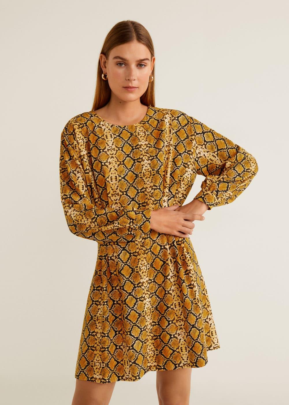 353ee8ad7a18 Φόρεμα με τύπωμα φίδι - Γυναίκα