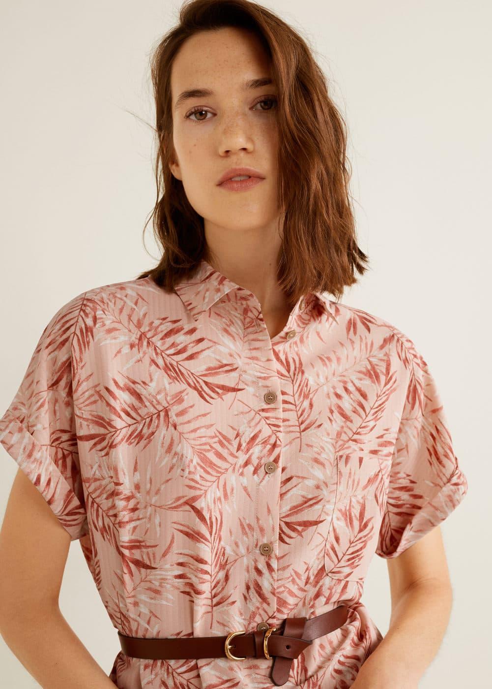 Mango - Camisa estampada - 4