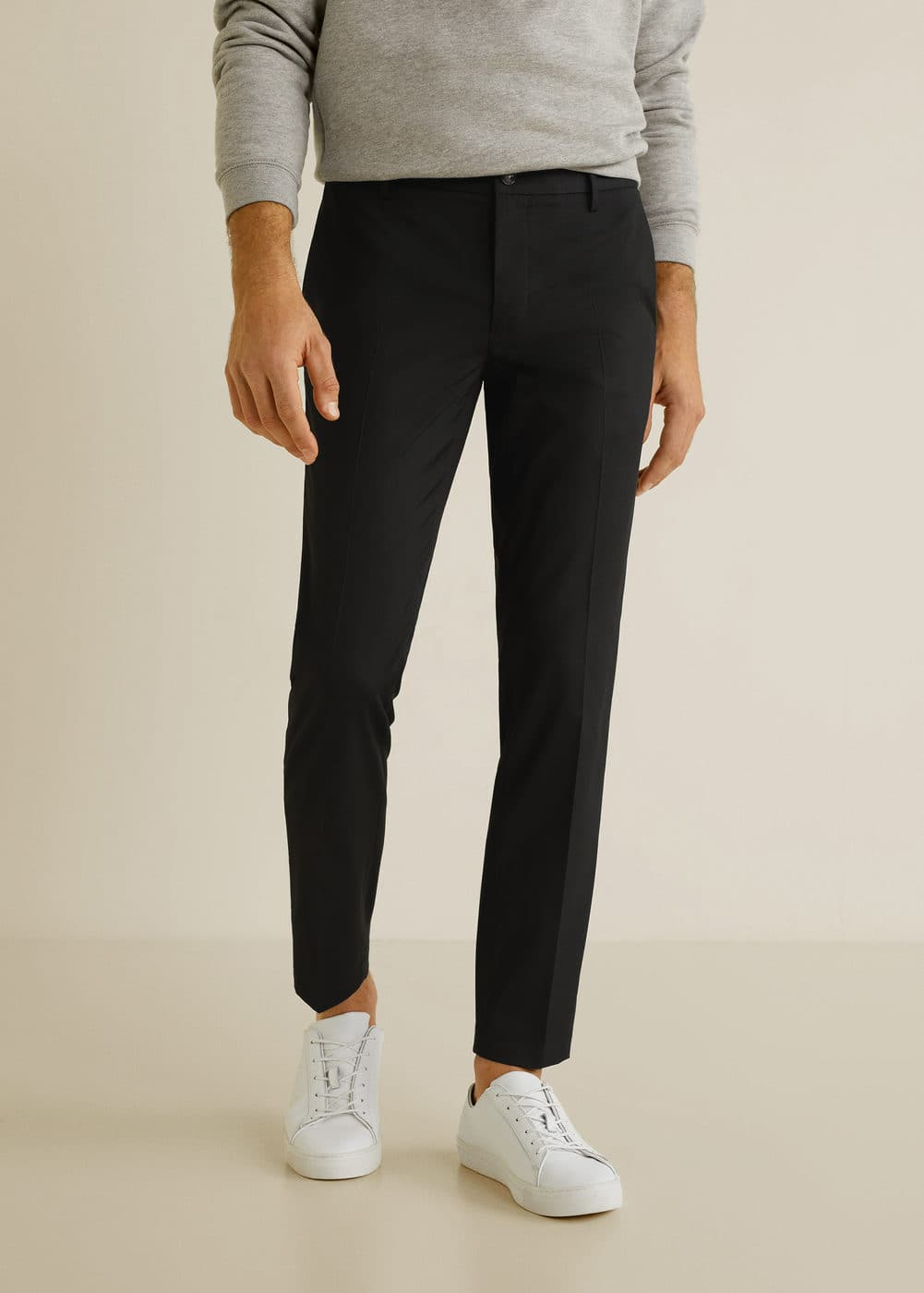 Slim Fit Cropped Trousers by Mango
