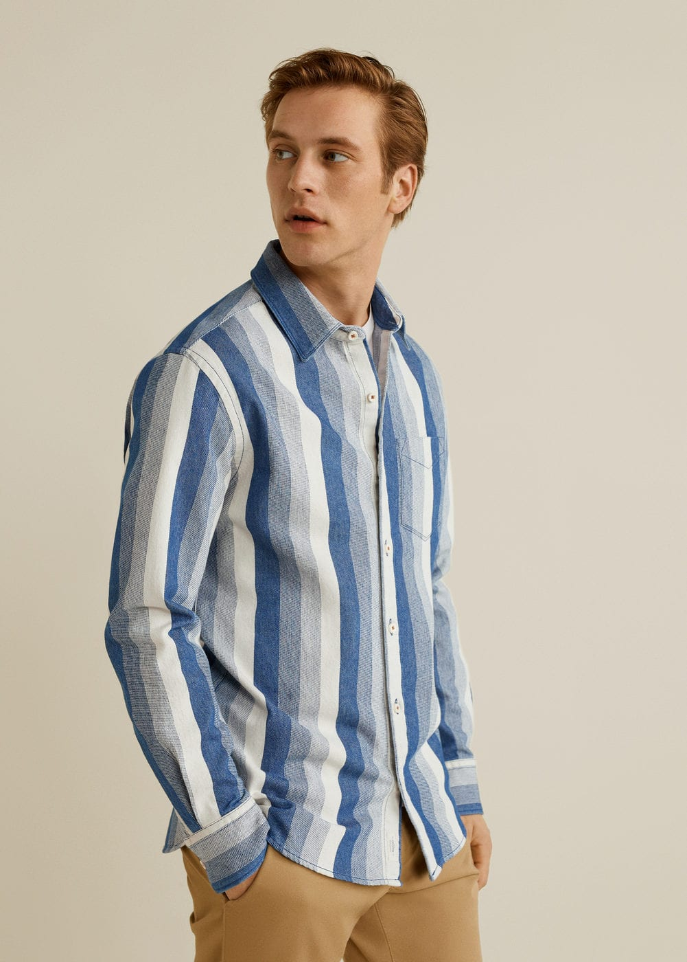 Mango - Relaxed-fit striped overshirt - 1