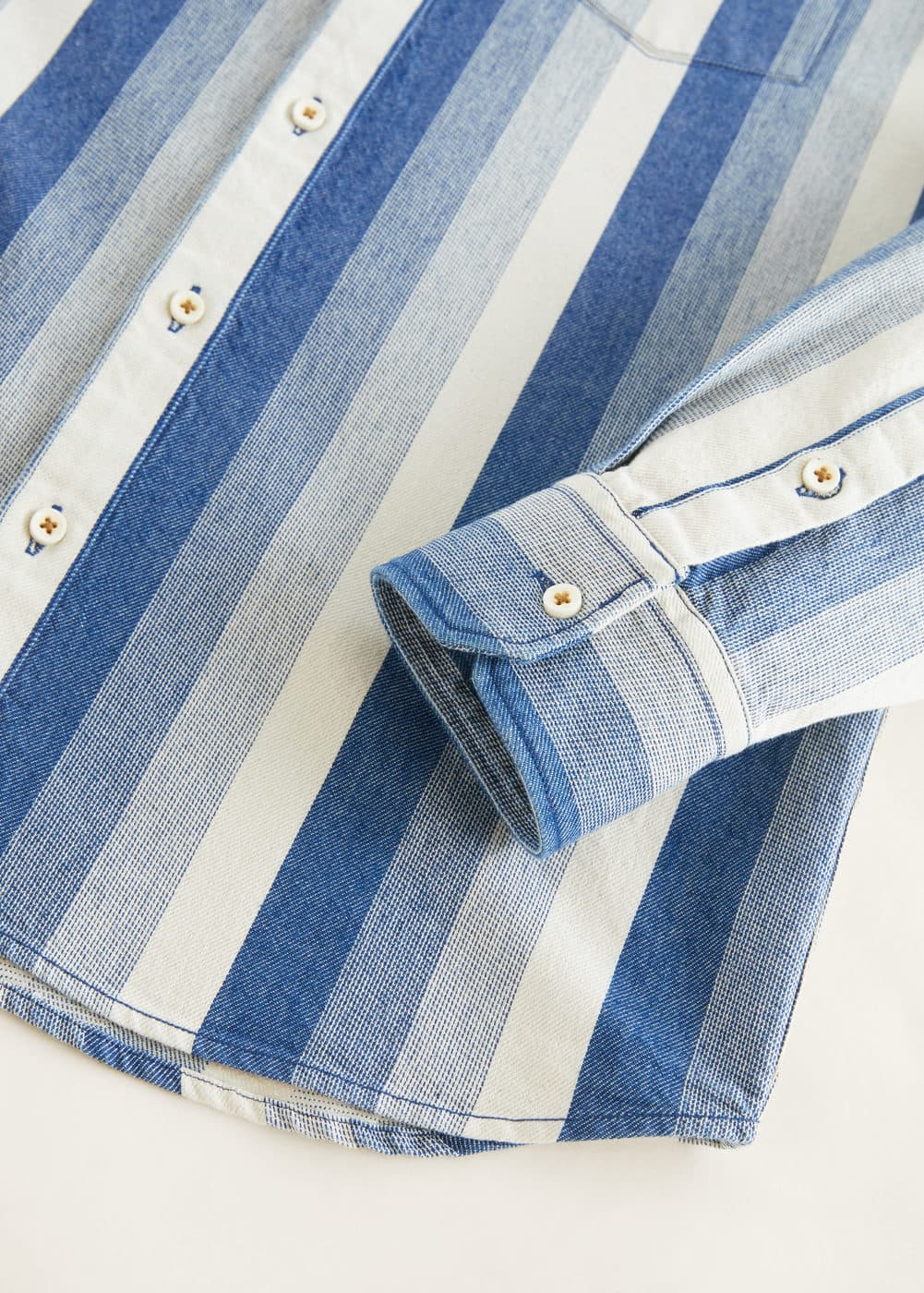 Mango - Relaxed-fit striped overshirt - 6