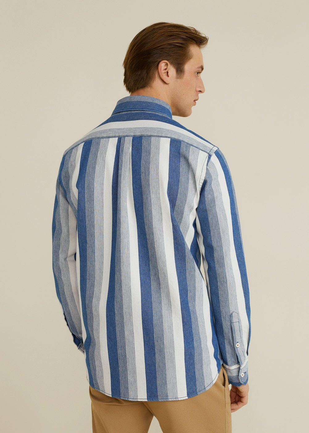Mango - Relaxed-fit striped overshirt - 3