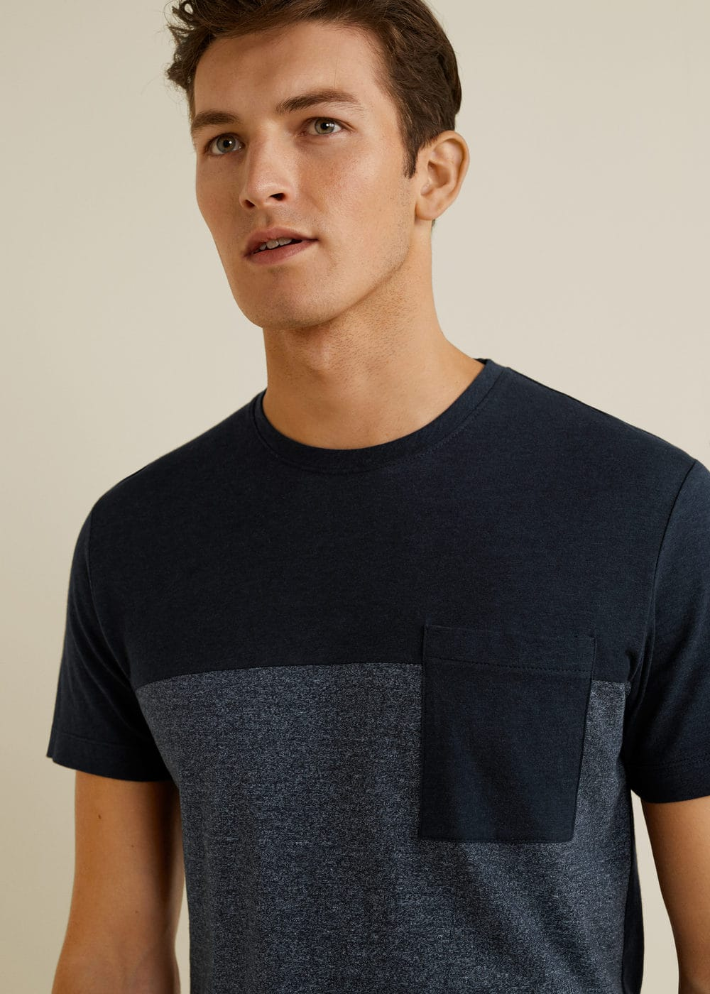 Mango - Camiseta combinada bolsillo - 4