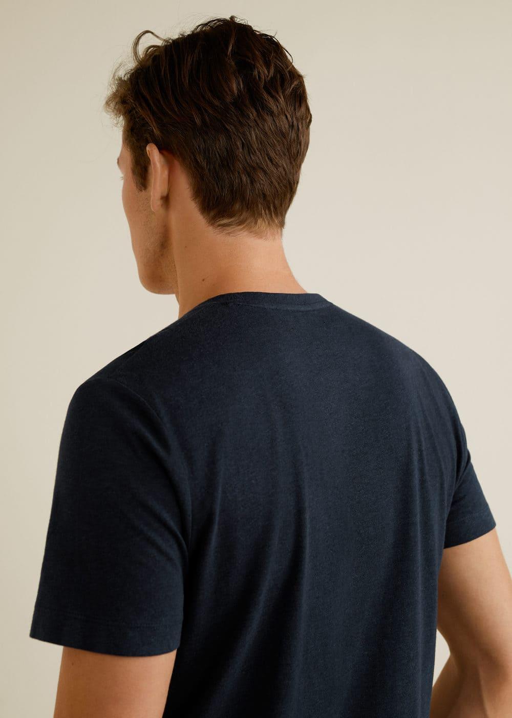 Mango - Camiseta combinada bolsillo - 3