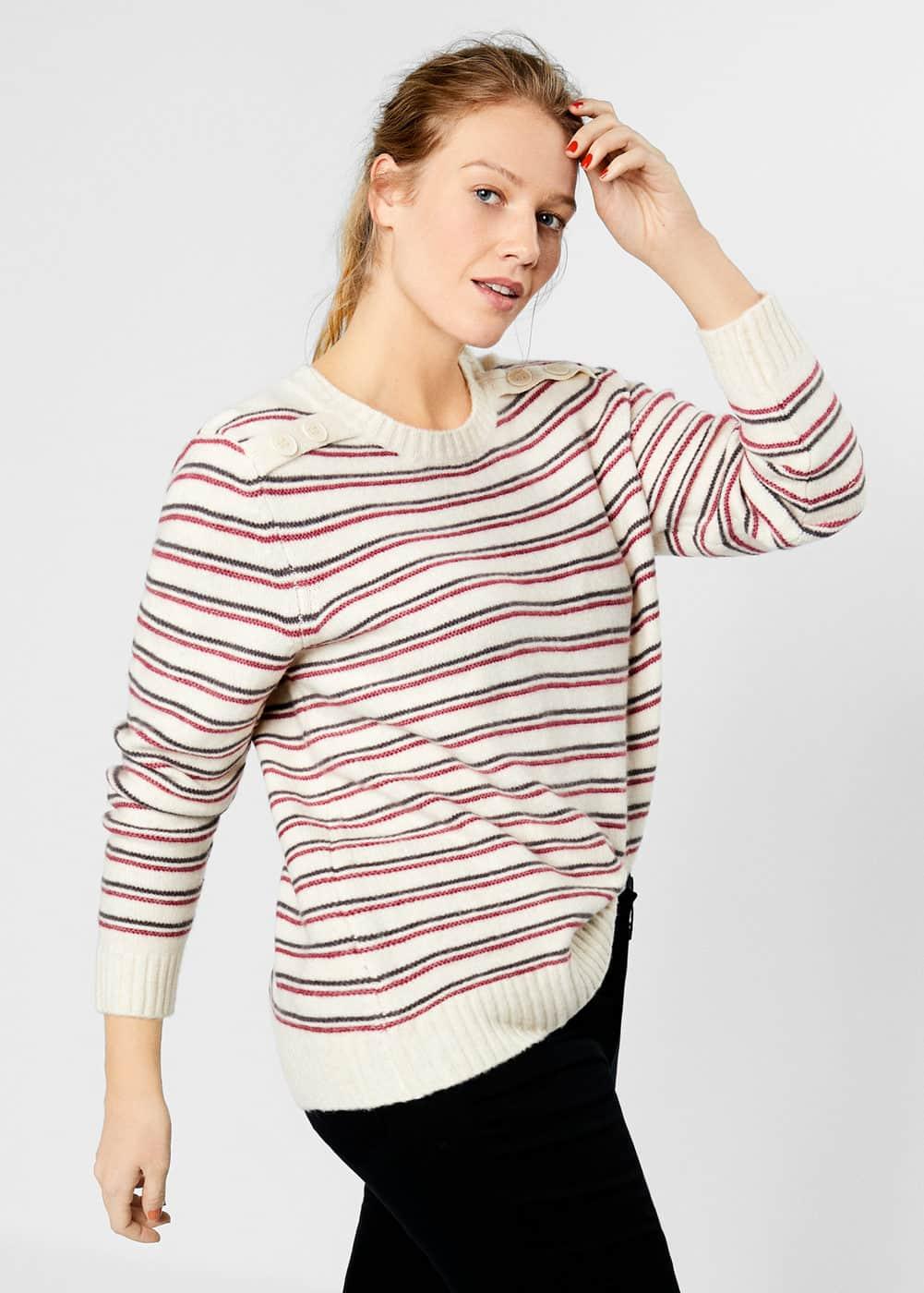 Mango - Knit striped sweater - 4