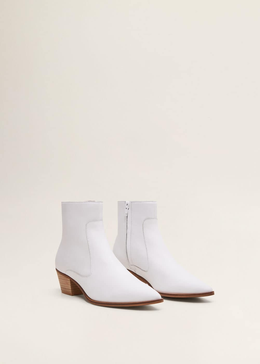 Mango - Leather cowboy ankle boots - 3