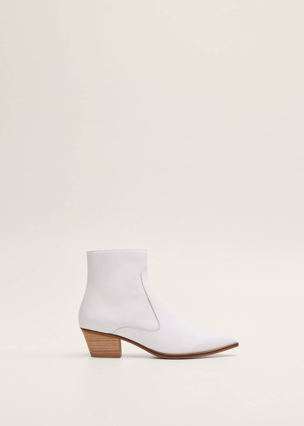 Mango - Leather cowboy ankle boots - 2