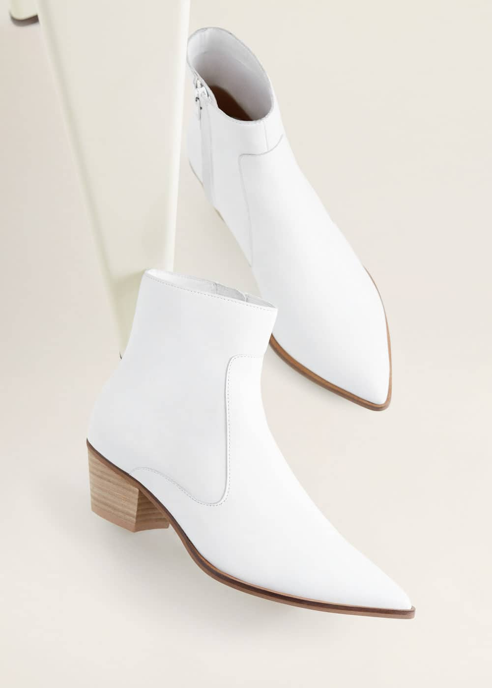 Mango - Leather cowboy ankle boots - 6