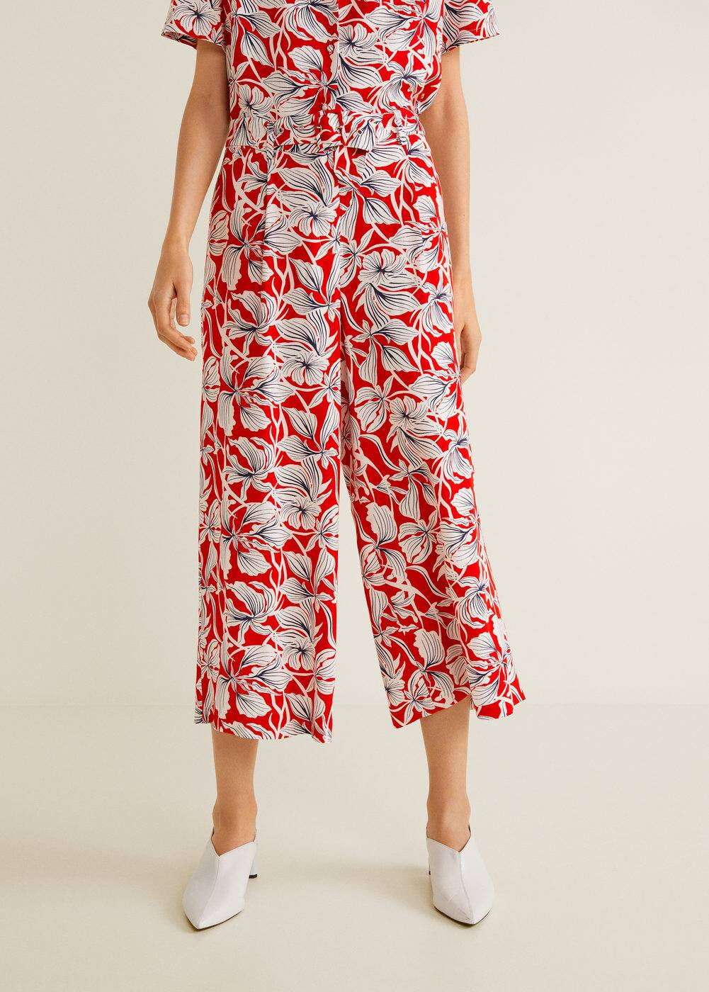 Spodnie Wzór W Kwiaty by Mango