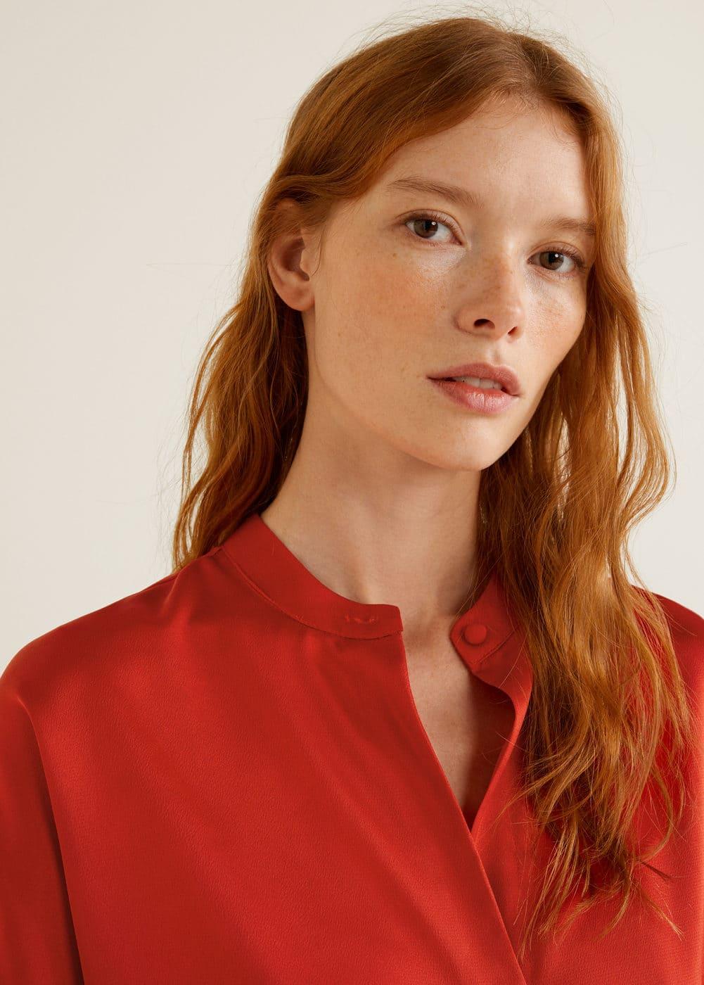Mango - Satin blouse - 5
