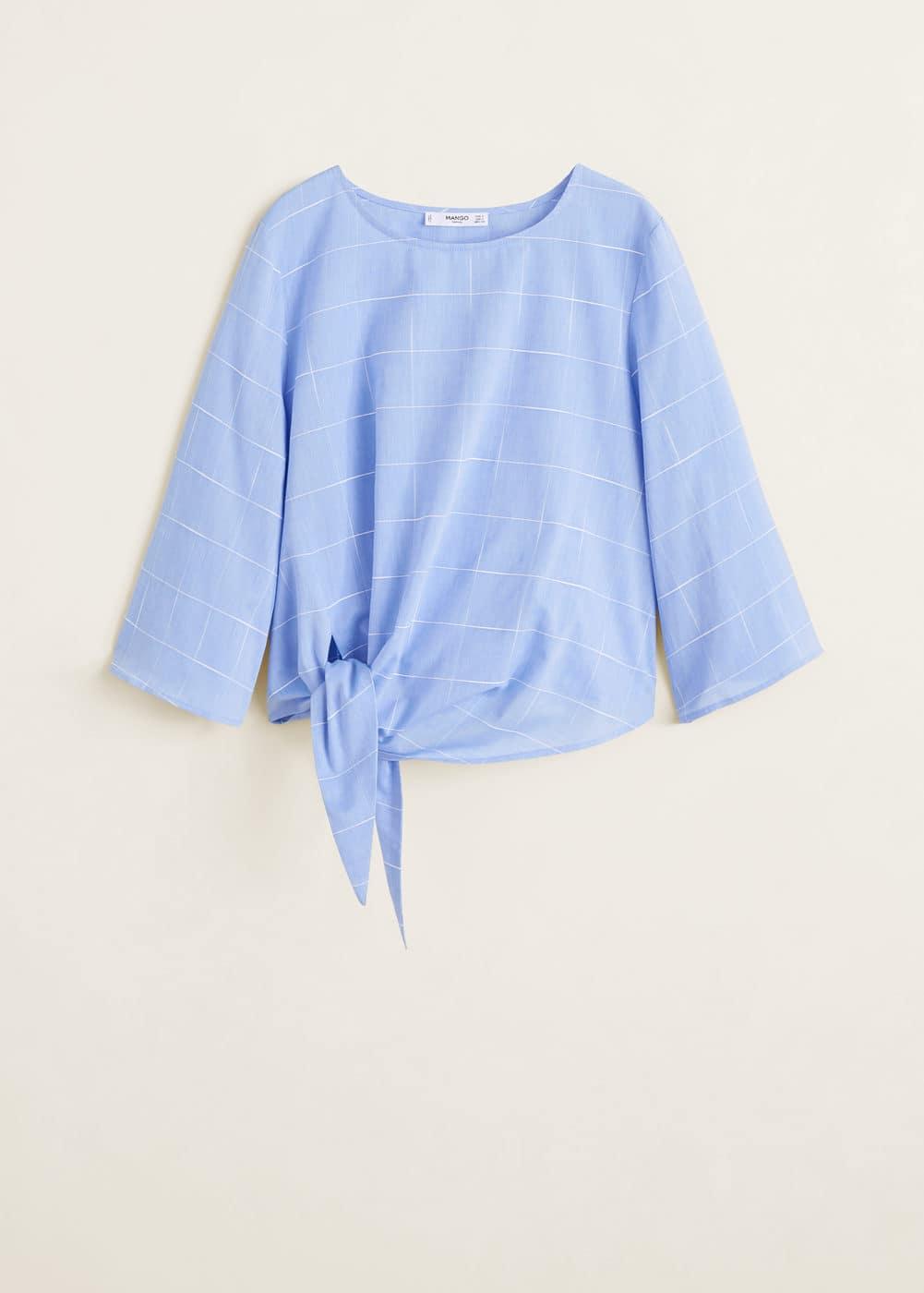 Mango - Blusa nudo algodón - 5