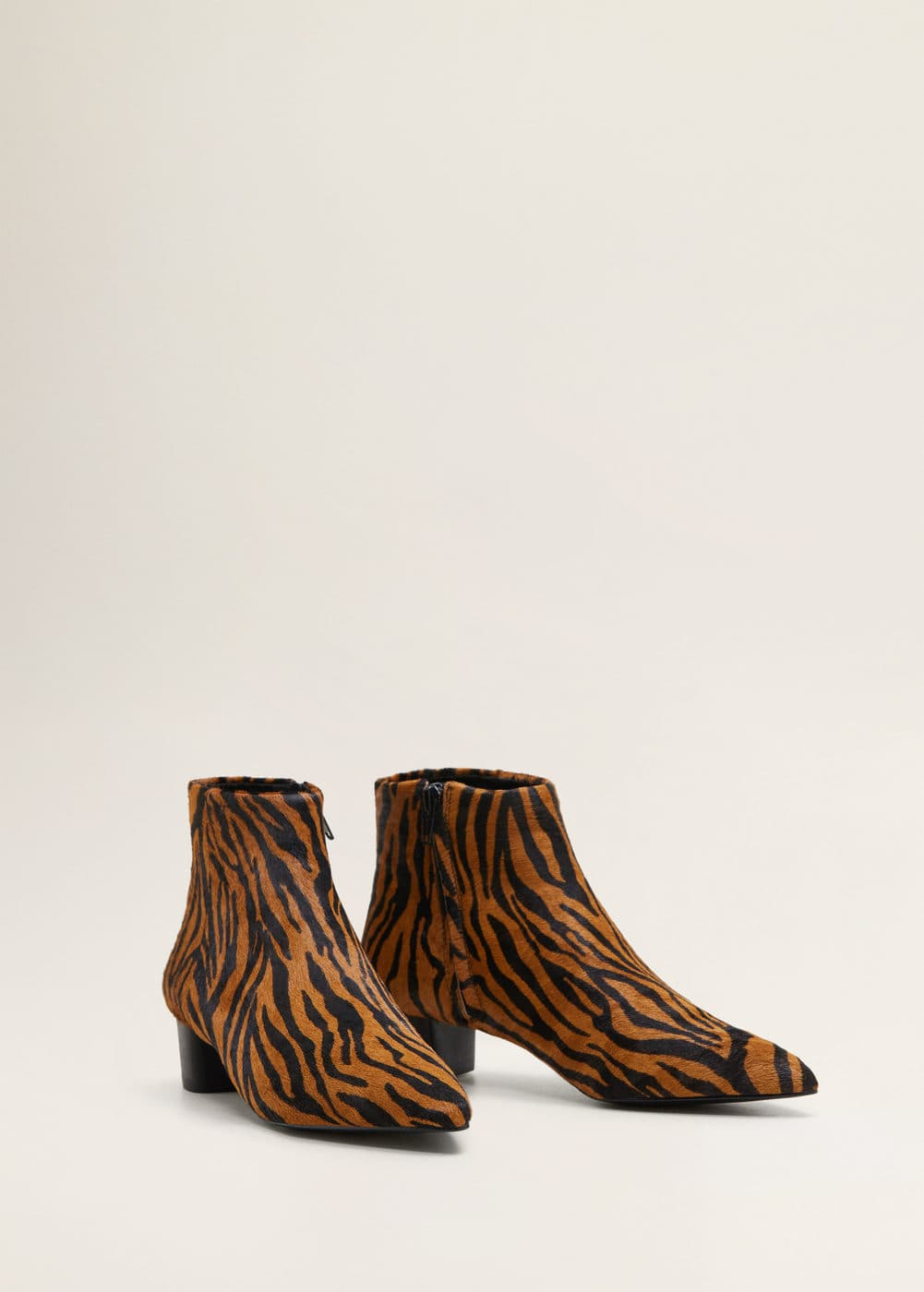 uk availability d412f 7807c Animal print leather ankle boots