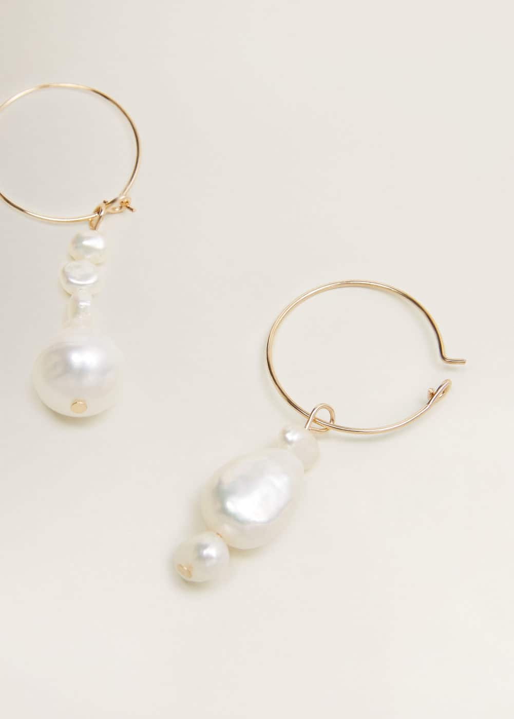 pendientes-aro-perla-natural by mango