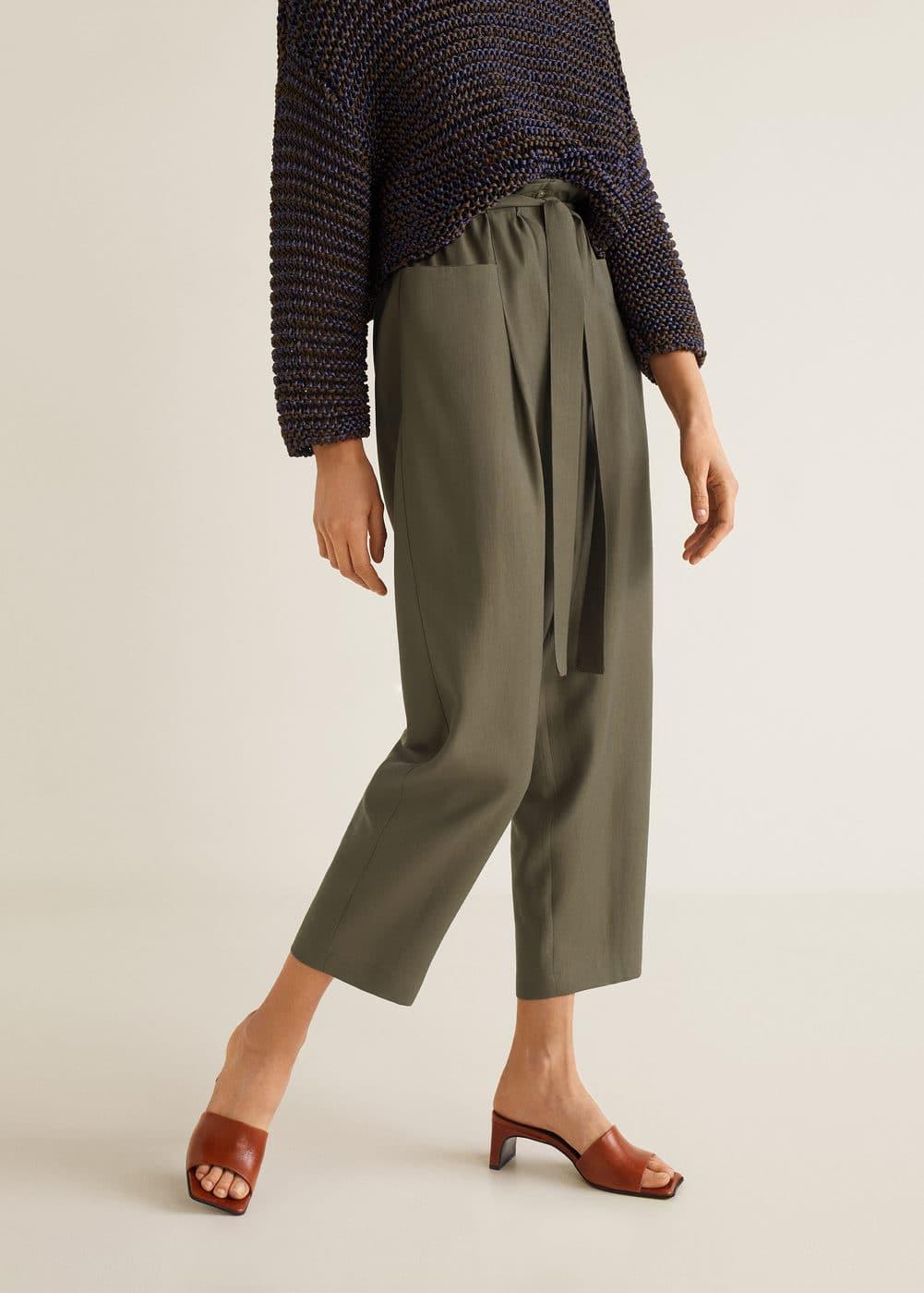 Мягкие брюки с карманами by Mango