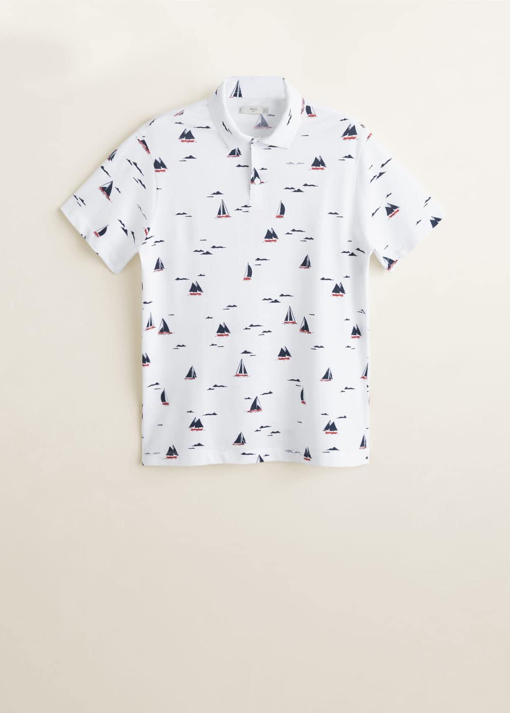 Mango - Bedrucktes Pikee-Poloshirt - 5